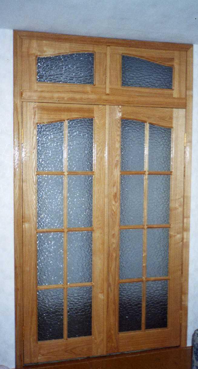 дверь входная двупольная металлическая остекленная с фрамугой